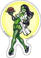15774 Zombie Waitress Frankenstein Lab Sexy Pin Up Girl Undead Sticker / Decal