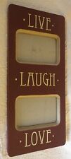 "Live Laugh Love Photo Picture Frame Wood Wooden 8"" Wide 18"" Long"