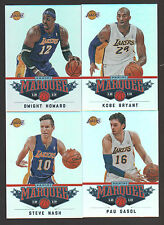 2012 2013 LA LAKERS 30 Card Lot w/ PANINI MARQUEE Team Set (14) '12-13 Players