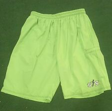 SMASH IT SPORTS Neon GREEN Performance Shorts Small, NEW!