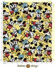 TOGETHERNESS Mickey and Minnie Mouse Disney Cotton Fabric By the Yard