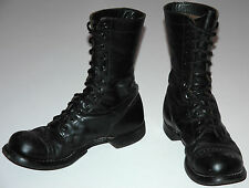 VINTAGE CORCORAN PARATROOPER MILITARY JUMP BOOTS SIZE 8 D BLACK LEATHER