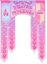 DISNEY PRINCESSES WELCOME DOOR banner VIP  Birthday party wall decoration
