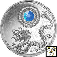 2016 March Birthstones Crystalized Proof $5 Silver Coin 1/4oz .9999 Fine (17592)