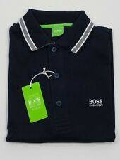 New Hugo Boss Navy Cotton Short Sleeve Polo with Logo Size Small