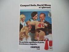 advertising Pubblicità 1978 CAMPARI SODA e DAVID NIVEN