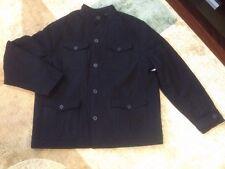 OLD NAVY Wool Blend 4 Four Pocket Jacket Military Coat Black L Large  NWT