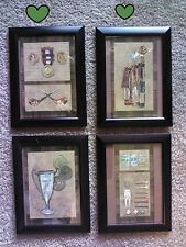 4 Golf Pictures 5x7 Golfing Wall Hangings Home Office Decor