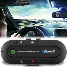In Car Wireless Speaker Phone Kit Visor Clip Bluetooth Hands free Black Chic