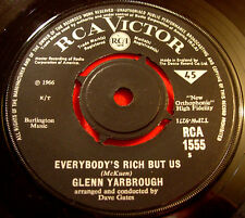 "Glenn Yarbrough Everybody's Rich But Us 7""UK ORIG 1966 RCA 1555 Limeliters VINYL"