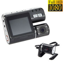 "HD Dual Lens Car DVR Dash Cam 2"" Vehicle Rearview Camera Video Recorder G-Sensor"