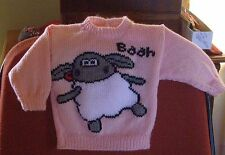 TIMMY SHAUN SHEEP . REALLY CUTE ..SIZE 1.. NEW HANDKNITTED JUMPER