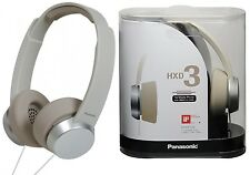 Panasonic RP-HXD3WE-W WHITE Street Style Over Ear DJ Monitor Headphones with Mic