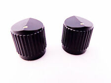 2 Black 19.44mm Electric Guitar Bass Amp Pedal Control Knobs