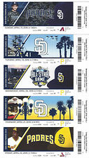 2011-2016 San Diego Padres Season Ticket Stubs - Mint Condition! Free Shipping!