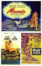 MIRANDA 1948 MR PEABODY AND THE MERMAID 1948 NIGHT TIDE 1962 MERMAIDS TRIPLE DVD