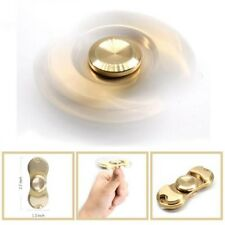 Hand Fidget Spinner Focus Toy Brass Copper Cube Tri-Spinner EDC For Adult Kids