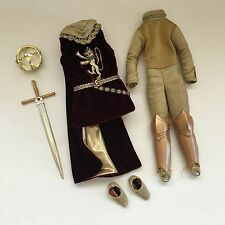 BARBIE COLLECTOR COSTUME King Arthur Crown Sword Armor Chainmaille Cape Shoes