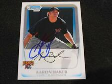 Pirates Aaron Baker Signed 2011 Bowman Chrome Autograph Card #BCP39  113