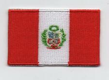 Embroidered PERU Flag Iron on Sew on Patch Badge HIGH QUALITY APPLIQUE