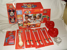 VTG DISNEY MICKEY'S STUFF FOR KIDS BIRTHDAY PARTY SUPPLY SET spoon straw mouse