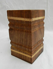 Wooden Desk Tidy - Pen Holder  Hand Made Item - BNWT