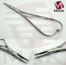 Needle Holder Mathieu 14cm Standard Blunt Tip Crossed-Serrated Plier Handle Grip