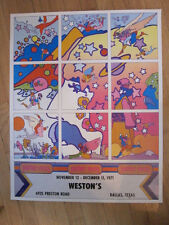 PETER MAX Weston's Dallas Texas 1971 poster Psychedelic
