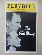 1978 - Forrest Theatre Playbill - The Gin Game - Jessica Tandy - Hume Cronyn