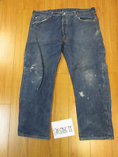 destroyed levi feather 501 button fly grunge jean tag 40x30 meas 36x28 20287F