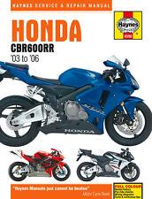 HAYNES 4590 MOTORCYCLE SERVICE REPAIR OWNER MANUAL HONDA CBR600RR 2003 - 2006