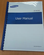 SAMSUNG GALAXY S3 mini i8190 PRINTED USER MANUAL GUIDE INSTRUCTIONS 120 PAGES