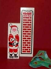 MISMADE SANTA CHIMNEY Holiday Christmas Tree Magic Trick Kid Wood Blocks + Cloth