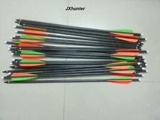 "12) 2219 crossbow arrows 18"" hybrid carbon arrows for archery hunting"