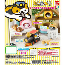 Neko Atsume Kitty Collector Mini Desk Figure Complete Set Gashapon Bandai *USA*