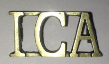 IRISH CITIZEN ARMY ( ICA) SHOULDER BOARDS CYPHER BRONZE TONE