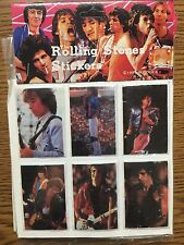 6 Vintage Rolling Stones Puffy Stickers 1983 Sealed Pack Jagger Color 80s Rock A