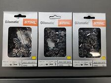 """3pk  20"""" STIHL Chainsaw Chain 33 RS 72 3623 005 0072 33RS 72 3/8"""" pt 72 Link NEW"""