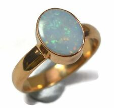 Crystal Crafts India Excitement Opal .925 Sterling Silver Ring For Women