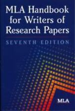 MLA Handbook for Writers of Research Papers 7th Edition, Modern Language Associa