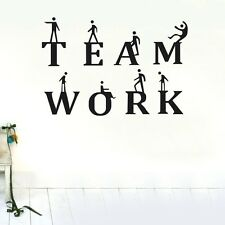 Team Work Wall stickers Business Decal Removable Mural Deco Vinyl Au DIY