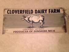 Natural Home Wood Cloverfield Dairy Farm Cow/Milk Farmhouse Country Wall Decor