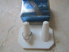NEW IN BOX AVON STERLING AND PINK SAPPHIRE COLOR RING SIZE 6