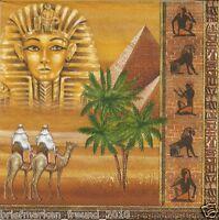 3 Servietten Napkins Ägypten Pyramiden Palmen Wüste Pharao #493