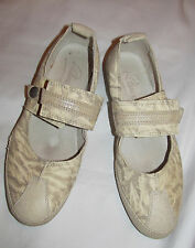 PATAUGAS leather flats mary jane comfort textured marbled shoes 37 US 6