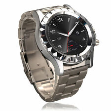 SILVER T2 HD BLUETOOTH SMART ROUND STAINLESS STEEL WRIST WATCH with 3.0MP CAMERA