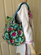 NEW Embroidered Large Tote Shoulder Shopping Bag Floral Hippy Boho Hippie