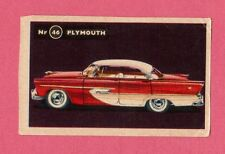 Plymouth Vintage 1950s Car Collector Card from Sweden