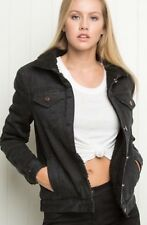 Sold Out! Brandy Melville vintage-inspired black faux fur denim annalee jacket