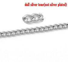 2mtr QUALITY STAINLESS STEEL HYPOALLERGENIC FINE CURB CHAIN~ Men & Women (ch21)
